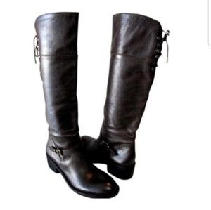 BCBGENERATION ADRY BROWN LEATHER RIDING BOOTS